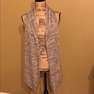 Tops - Sweater knit sleeveless cardigan